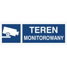 Znak: teren monitorowany