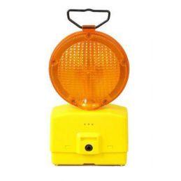 Lampa drogowa sygnalizacyjna  STM + dwie baterie