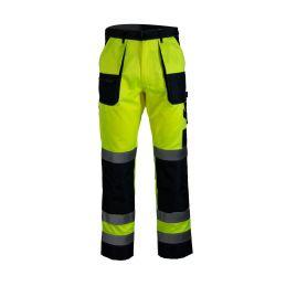 Spodnie robocze do pasa ostrzegawcze FLASH